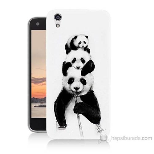 Teknomeg Vestel Venüs V3 5040 Panda Ailesi Baskılı Silikon Kılıf