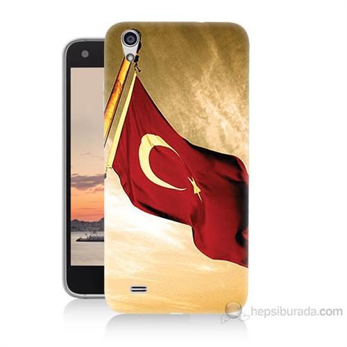 Teknomeg Vestel Venüs V3 5040 Türk Bayrağı Baskılı Silikon Kılıf