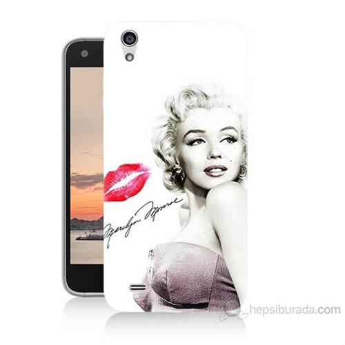 Teknomeg Vestel Venüs V3 5040 Marilyn Monroe Baskılı Silikon Kılıf