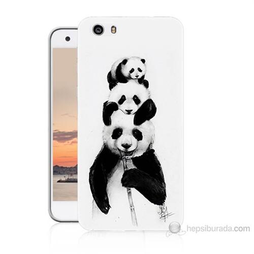 Teknomeg Vestel Venüs V3 5570 Panda Ailesi Baskılı Silikon Kılıf