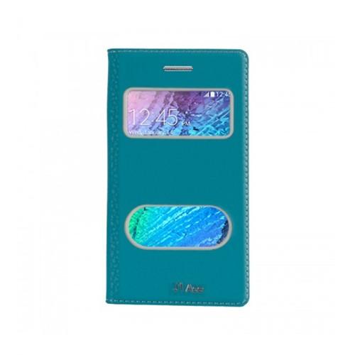 Lopard Samsung Galaxy J1 Ace Pencereli Mavi Dolce Kapaklı Deri Akıllı Kılıf