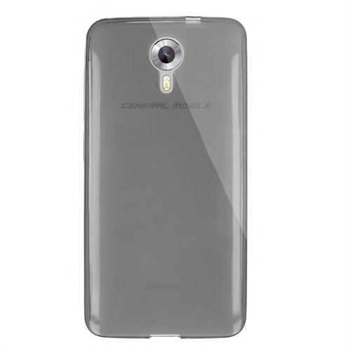Cep Market General Mobile Android One 4G Kılıf 0.2Mm Antrasit Silikon