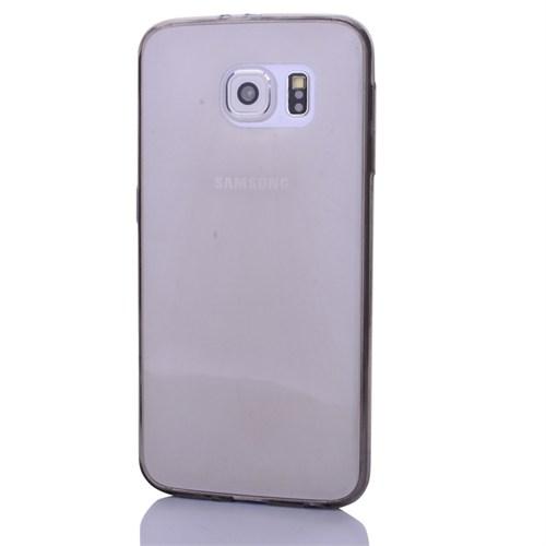 Cep Market Samsung Galaxy S6 Kılıf 0.2Mm Antrasit Silikon