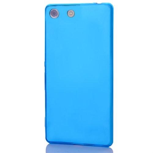 Cep Market Sony Xperia Z3 Compact Kılıf 0.2Mm Mavi Silikon