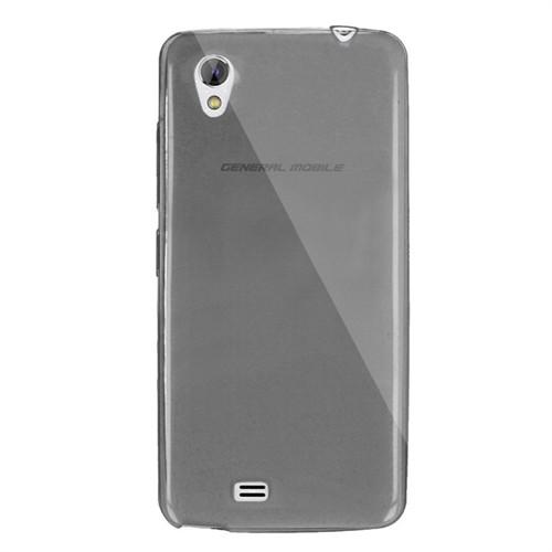 Cep Market General Mobile Discovery 2 Mini Kılıf 0.2Mm Antrasit Silikon