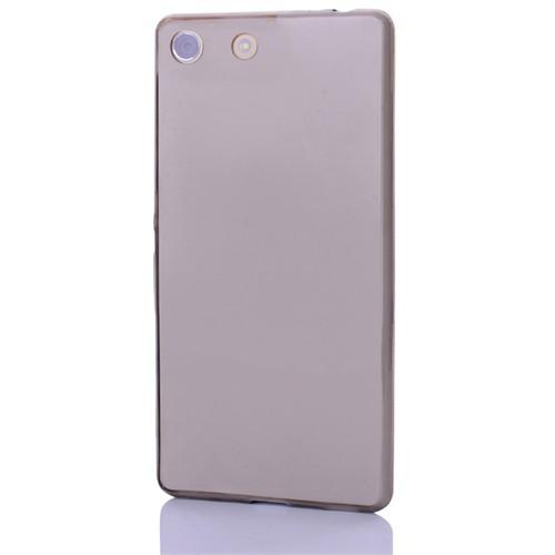 Cep Market Sony Xperia M5 Kılıf 0.2Mm Antrasit Silikon