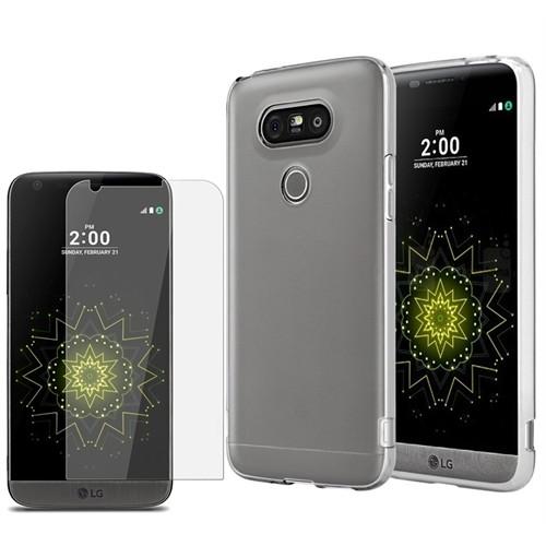 Kılıfshop Lg G5 Silikon Kılıf + Kırılmaz Cam Ekran Koruyucu
