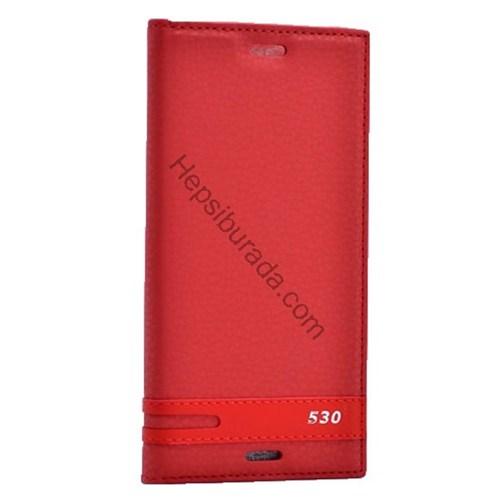 Case 4U Htc Desire 530 Gizli Mıknatıslı Kapaklı Kılıf Kırmızı