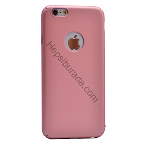 Case 4U Apple İphone 6 Rubber Arka Kapak Pembe