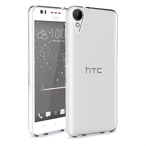 Case 4U Htc Desire 825 Ultra İnce Silikon Kılıf Şeffaf