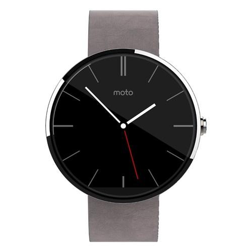 Motorola Moto 360 1.Nesil Akıllı Saat Gri Deri Kordon