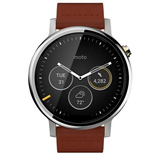 Motorola Moto 360 2.Nesil Akıllı Saat 42 mm Deri Siyah Kordon