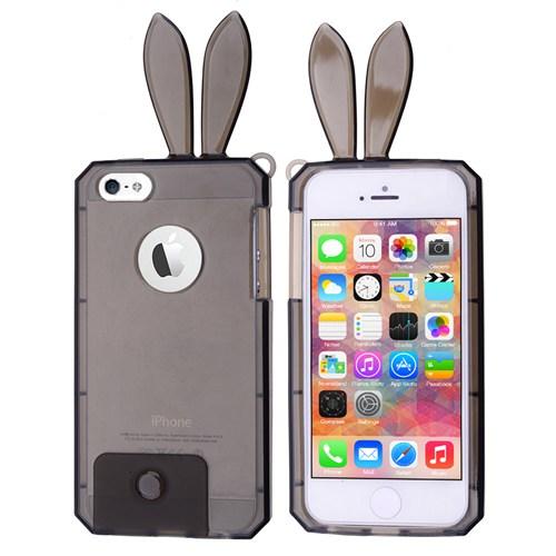 Ally Apple İphone 5 Tavşan Kulaklı Silikon Kılıf