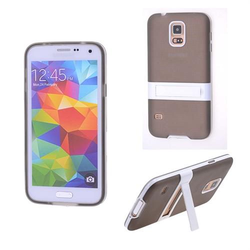 Ally Samsung Galaxy S5 İ9600 G900 Standlı Silikon Kılıf