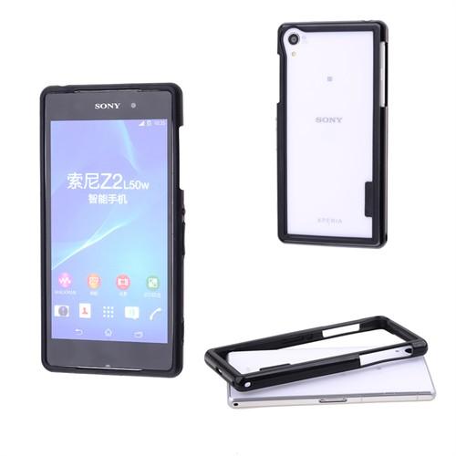 Ally Sony Xperia Z2 Bumper Çerçeve Silikon Kılıf