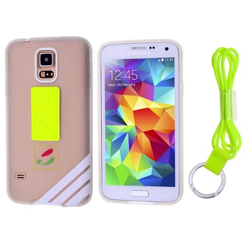 Ally Samsung Galaxy S5 İ9600 Best Koruma Boyun Askili Seffaf Silikon Kılıf