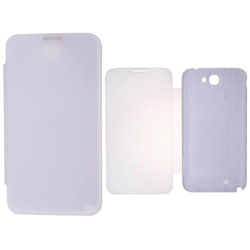Ally Samsung Galaxy Note 2 N7100 Akıllı Şeffaf Kapak Flip Cover