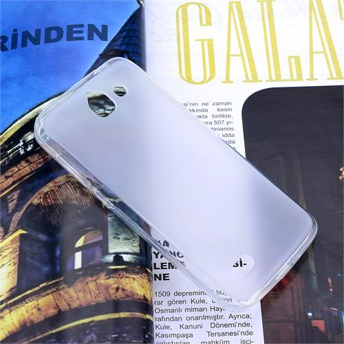 Ally Huawei Ascend G730 Şeffaf Silikon Kılıf