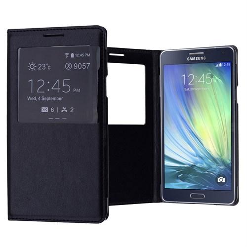 Ally Samsung Galaxy A7 Pencereli Flip Cover Kılıf