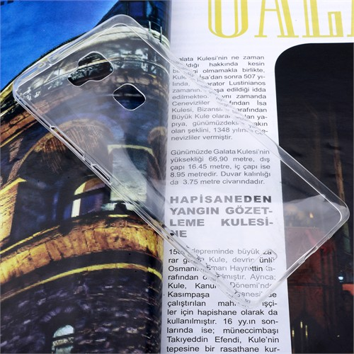 Ally Huawei Ascend Mate 7 Spada Kristal Soft Silikon Kılıf