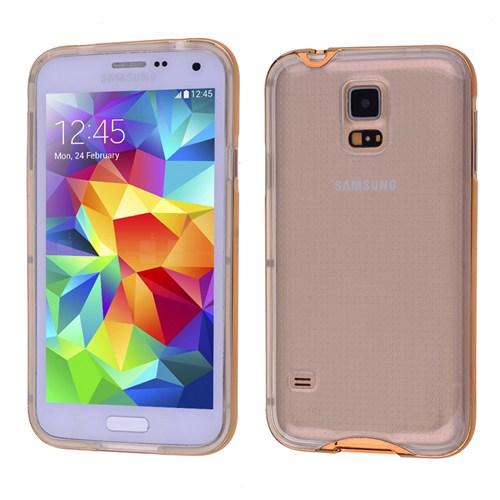 Ally Samsung Galaxy S5 İ9600 Şeffaf Silikon Bumper Kılıf