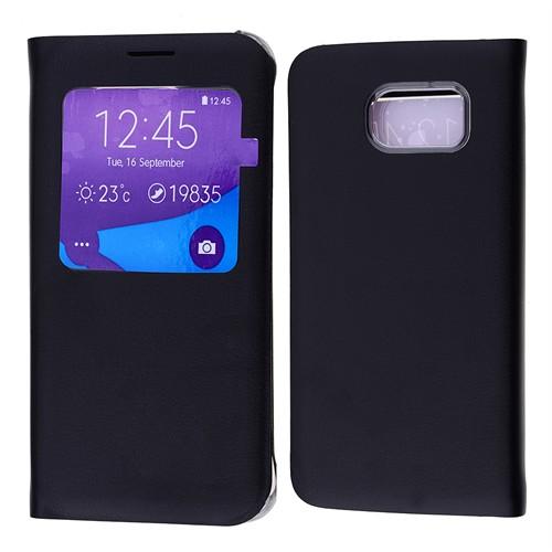 Ally Samsung Galaxy S6 Pencereli Flip Cover Kılıf