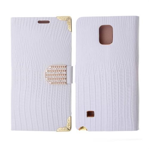 Ally Samsung Galaxy Note 4 Taşlı Standlı Cüzdan Kılıf