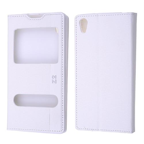 Ally Sony Xperia Z2 D6502 D6503 D6543 Standlı Mıknatıslı Pencereli Kılıf