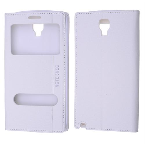 Ally Samsung Galaxy Note 3 Neo N7505 Standlı Mıknatıslı Pencereli Kılıf