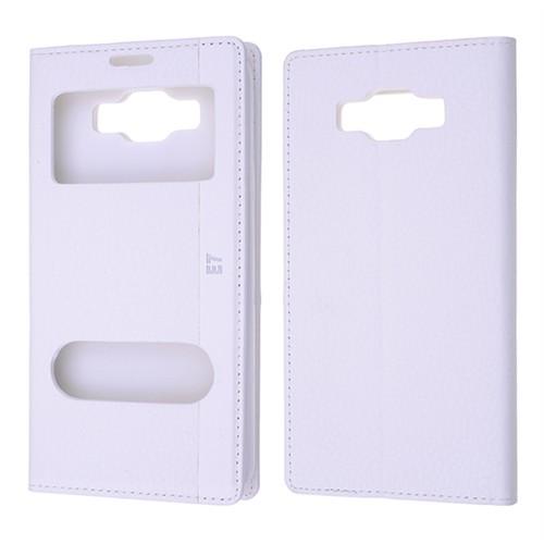 Ally Samsung Galaxy E7 Sm - E700 Standlı Mıknatıslı Pencereli Kılıf