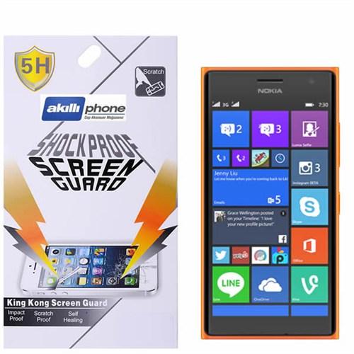 Ally Shockproof Nokia Lumia 730 735 Darbe Emici Kırılmaz Parlak Ekran Koruyucu Jelatin