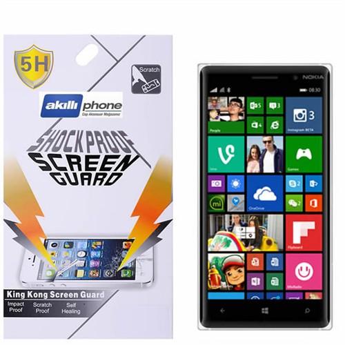 Ally Shockproof Nokia Lumia 830 Darbe Emici Kırılmaz Parlak Ekran Koruyucu Jelatin
