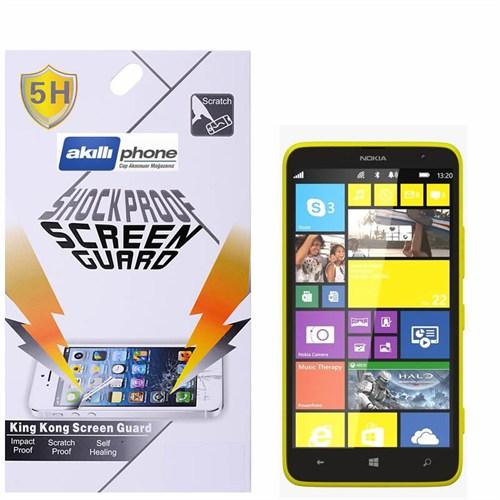 Ally Shockproof Nokia Lumia 1320 Darbe Emici Kırılmaz Parlak Ekran Koruyucu Jelatin