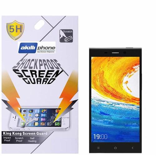 Ally General Mobile Discovery Elite E7 Darbe Emici Kırılmaz Parlak Ekran Koruyucu Jelatin