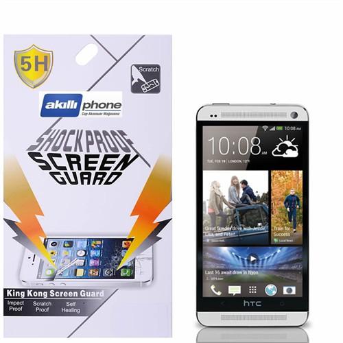 Ally Shockproof Htc One M7 Darbe Emici Kırılmaz Parlak Ekran Koruyucu Jelatin