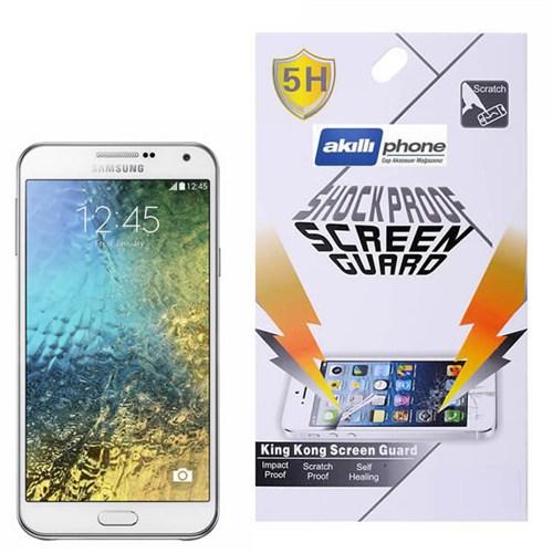 Ally Samsung Galaxy E5 E500 Darbe Emici Parlak Ekran Koruyucu Jelatin