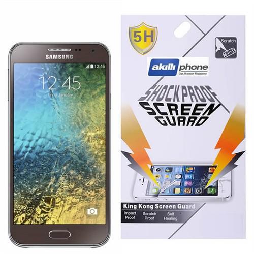 Ally Samsung Galaxy E7 E700 Darbe Emici Parlak Ekran Koruyucu Jelatin