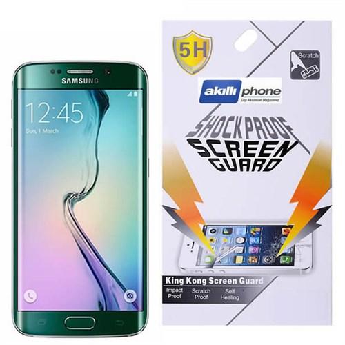 Ally Samsung Galaxy S6 Edge G925 Darbe Emici Parlak Ekran Koruyucu Jelatin