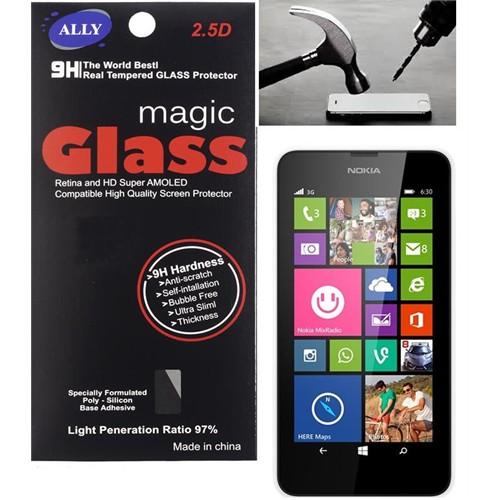 Ally Nokia Lumia 630/635 Tempered Kırılmaz Cam Ekran Ko