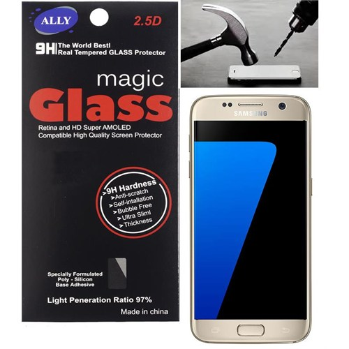 Ally Samsung Galaxy S7 G930 Tempered Kırılmaz Cam Ekran Koruyucu