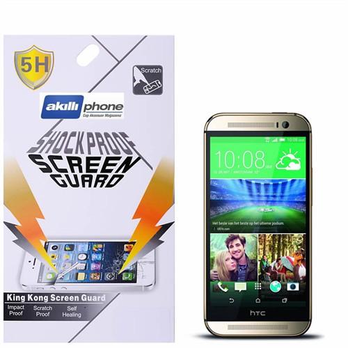 Ally Shockproof Htc One M8 Darbe Emici Kırılmaz Parlak Ekran Koruyucu Jelatin