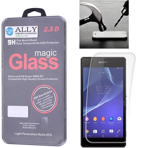 Ally Sony D6503 Xperia Z2 Kırılmaz Cam Ekran Koruyucu