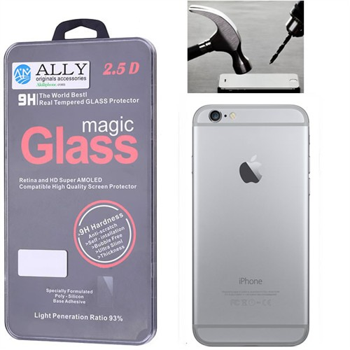 Ally Apple İphone 6/6S Glass Tempered Kırılmaz Cam Arka Kapak Koruyucu