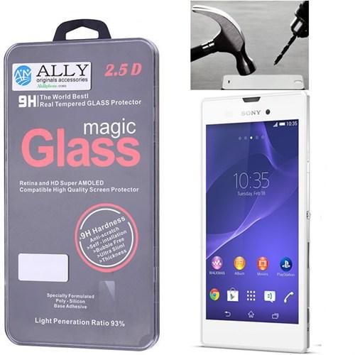 Ally Sony Xperia T3 M50w Kırılmaz Cam Ekran Koruyucu