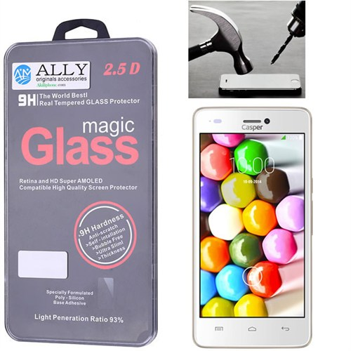 Ally Casper Via V8c Magic Glass Tempered Kırılmaz Cam Ekran Koruyucu