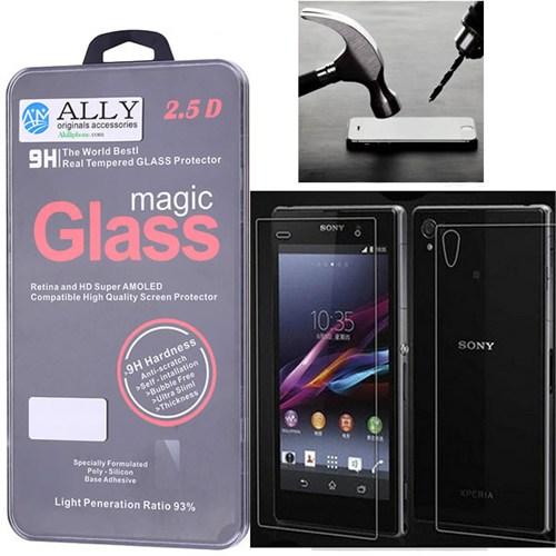 Ally Sony Xperia Z1 L39h Kırılmaz Ön Ve Arka Cam Ekran Koruyucu