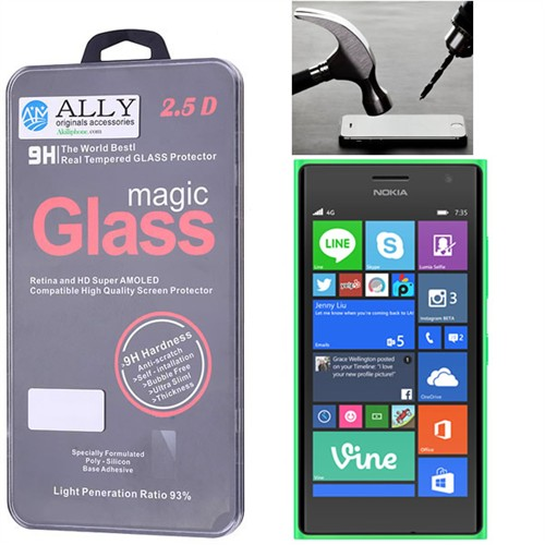 Ally Nokia Lumia 730.735 Tempered Kırılmaz Cam Ekran Koruyucu