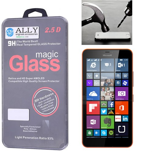 Ally Microsoft Lumia 640Xl Kırılmaz Cam Ekran Koruyucu