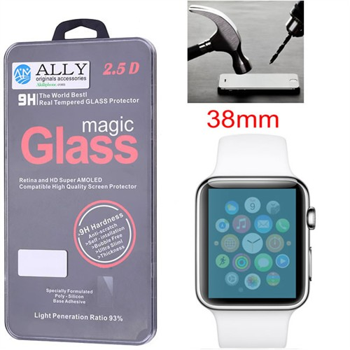 Ally Apple Watch 38Mm Tempered Kırılmaz Cam Ekran Koruyucu