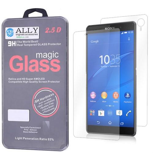 Ally Sony Xperia Z3+ Z4 Tempered Kırılmaz Ön Ve Arka Cam Ekran Koruyucu